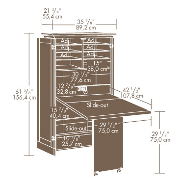 Sauder (158097) Harbor View Sewing / Craft Armoire | The ...