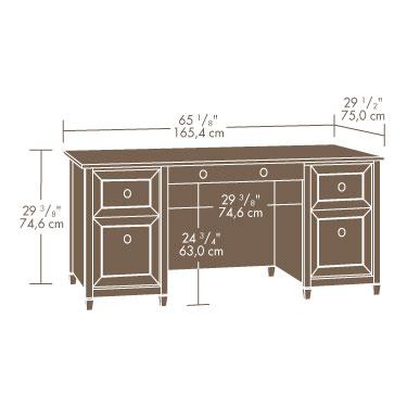 Sauder 409042 Edge Water Executive Desk The Furniture Co