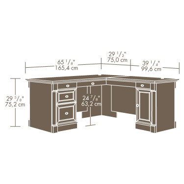 Sauder 417714 Avenue Eight L Shaped Desk The Furniture Co
