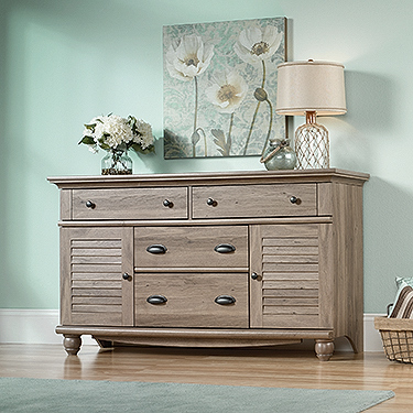 Sauder 414942 harbor view dresser the furniture co for Furniture oak harbor