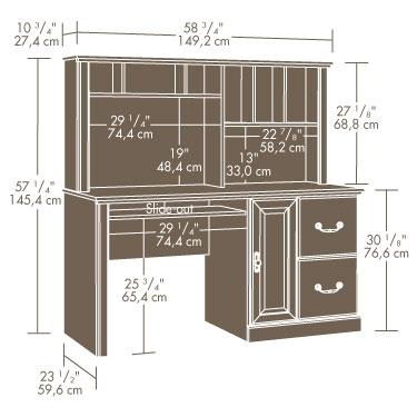 Sauder 401354 Orchard Hills Computer Desk With Hutch