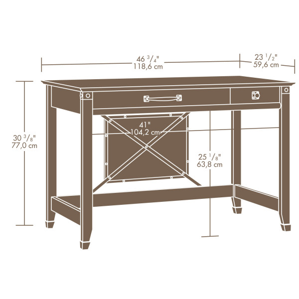 Sauder 412924 Carson Forge Writing Desk The Furniture Co