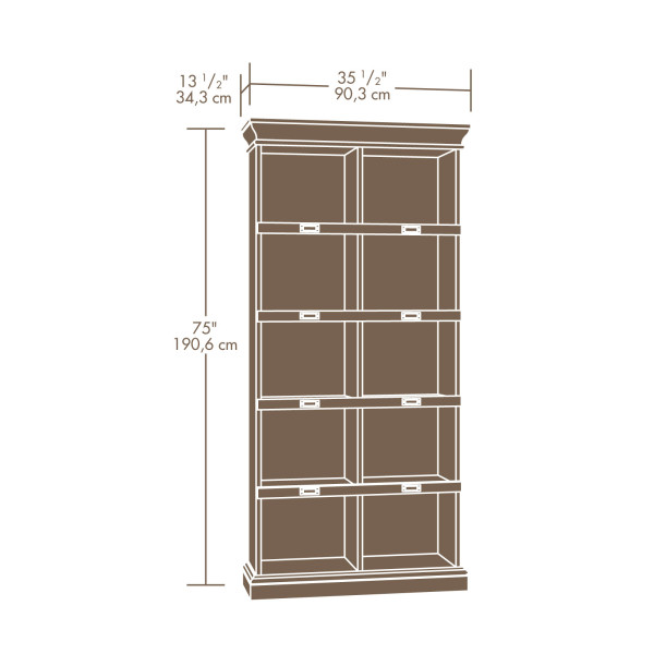 Sauder 414108 Barrister Lane Tall Bookcase The