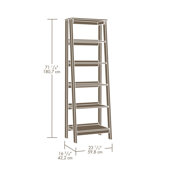 Sauder Trestle 5 Shelf Bookcase 414602 The Furniture Co