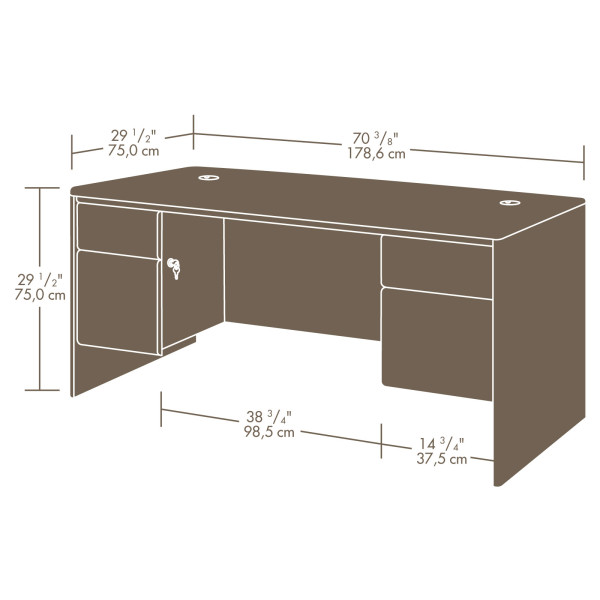 Sauder 404972 Cornerstone Executive Desk The Furniture Co