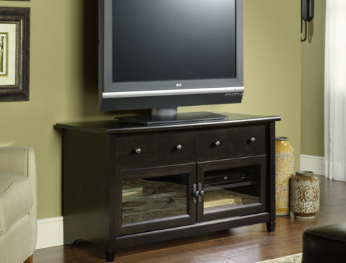 Sauder 409047 Edge Water Panel Tv Stand The Furniture Co