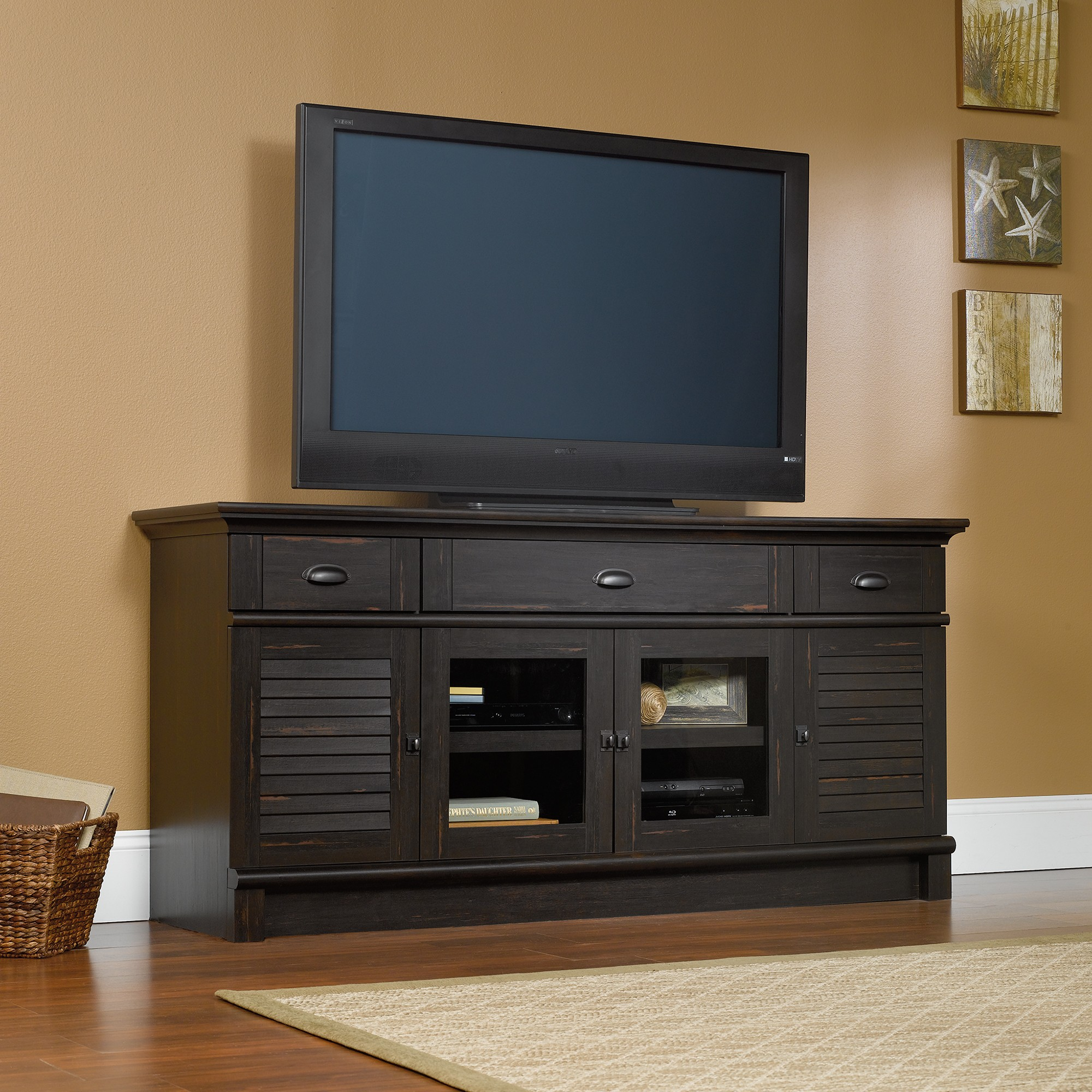 Sauder 415374 Harbor View Credenza Tv Stand The Furniture Co
