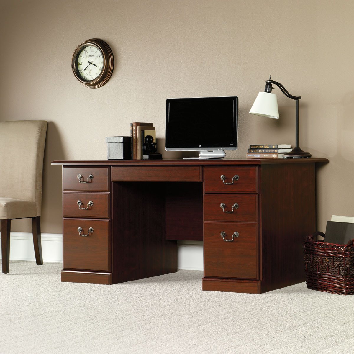 sauder 109830 heritage hill executive desk the