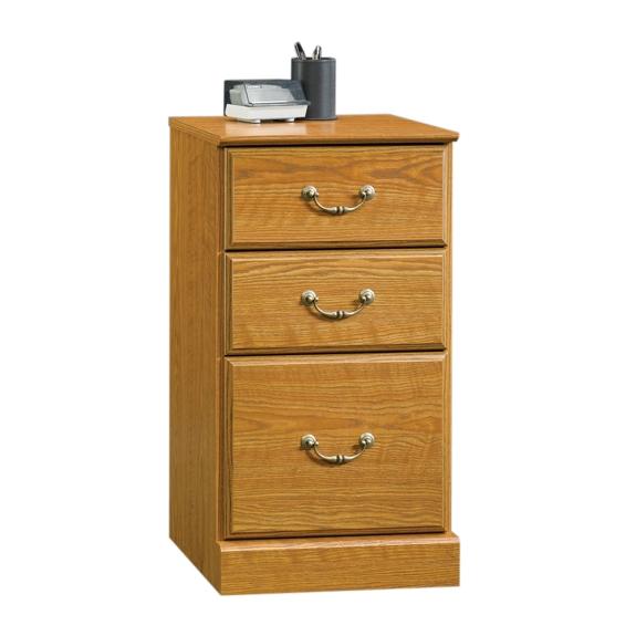 Sauder 401804 Orchard Hills 3 Drawer Pedestal The Furniture Co