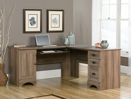 Sauder 417586 Harbor View Corner Desk The Furniture Co