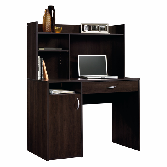 Sauder Computer Desk With Hutch Cinnamon Cherry