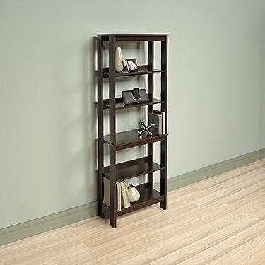 Sauder 418455 Beginnings 5 Shelf Trestle Bookcase The