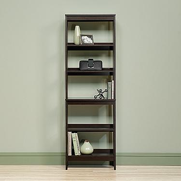Sauder 418455 Beginnings 5 Shelf Trestle Bookcase The Furniture Co