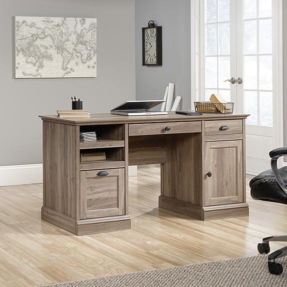 Warm Cherry Executive Desk Home Office Collection: Sauder (418299) Barrister Lane Executive Desk