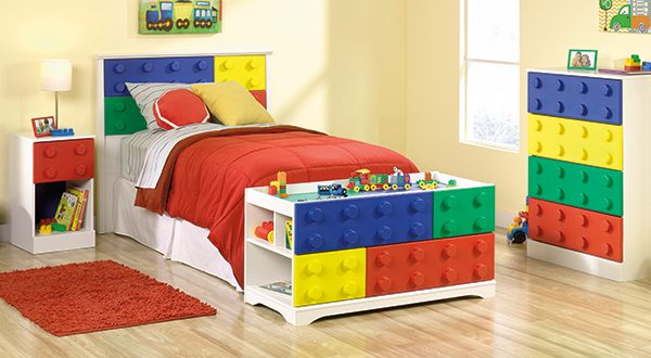 Sauder Primary Street 4 Piece Bedroom Set Sps4pbs The Furniture Co