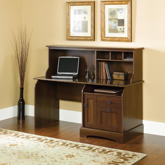 Sauder Graham Ridge Desk W Hutch 409923 The Furniture Co