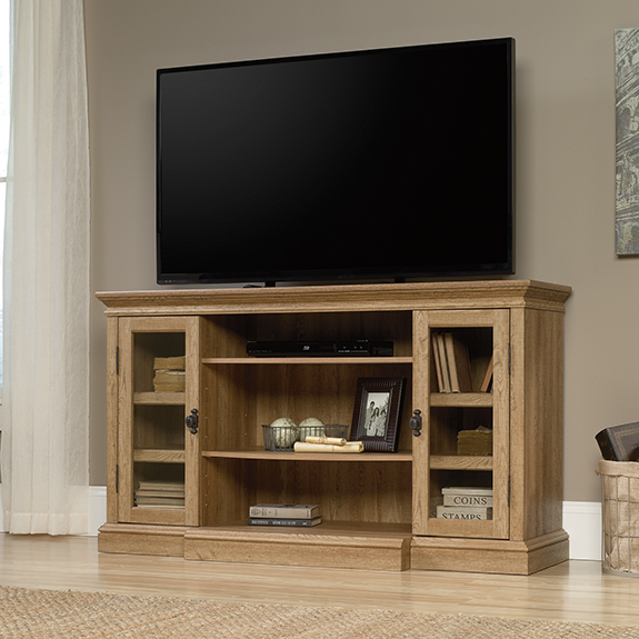 Sauder Barrister Lane Fireplace Ready Tv Stand 419118 The Furniture Co