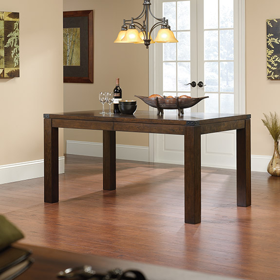 Sauder 419153 Carson Forge Dining Table The Furniture Co