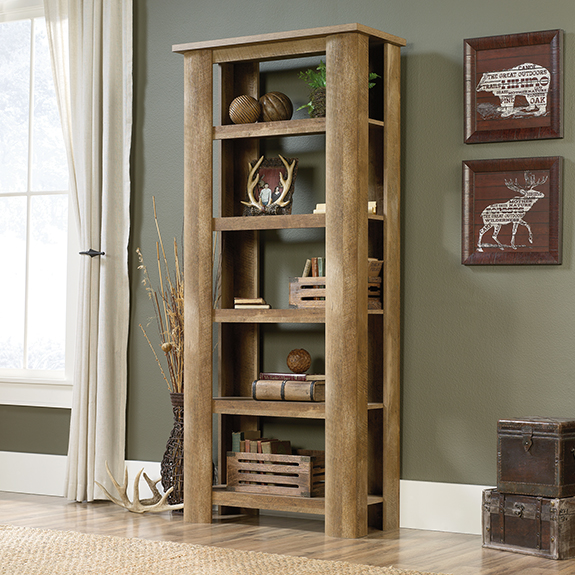 Sauder 419864 Boone Mountain 5 Shelf Bookcase The Furniture Co