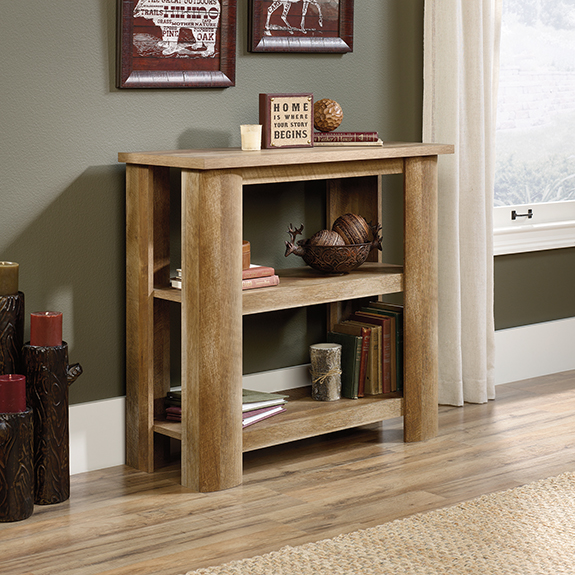 Sauder 419940 Boone Mountain 2 Shelf Bookcase The Furniture Co