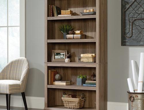Sauder Select 5 Shelf Bookcase 420173 The Furniture Co