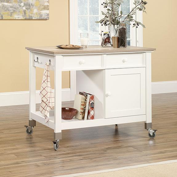sauder 416879 mobile kitchen island the furniture co sauder select pantry 401867 sauder