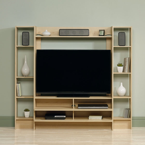 sauder 418182 beginnings entertainment wall system the furniture co