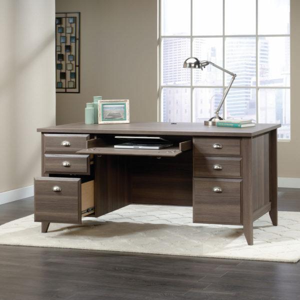 Sauder 418656 Shoal Creek Executive Desk The Furniture Co