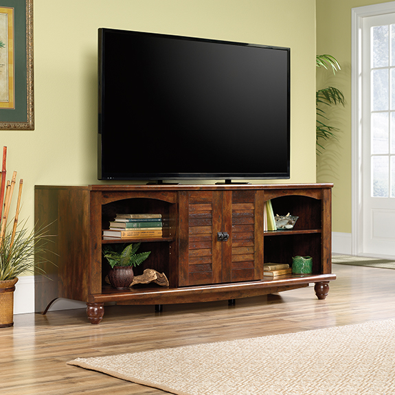 Sauder 420472 Harbor View Entertainment Credenza Tv Stand The Furniture Co