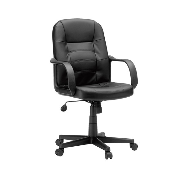 Sauder 417882 Gruga Leather Manager Chair Black The Furniture Co