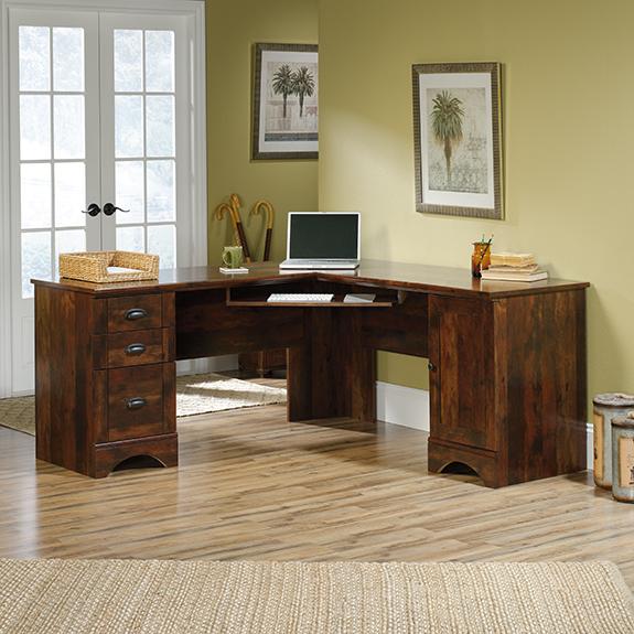 Sauder 420474 Harbor View Corner Desk The Furniture Co