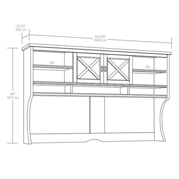 Sauder 419958 Costa Large Hutch The Furniture Co