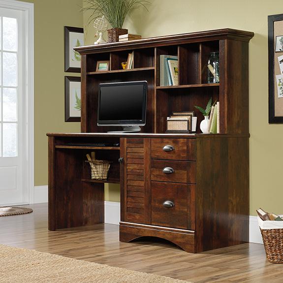 Sauder 420475 Harbor View Desk W Hutch The Furniture Co