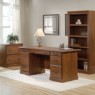 Sauder Ps1154 Orchard Hills 3 Piece Office Set The Furniture Co