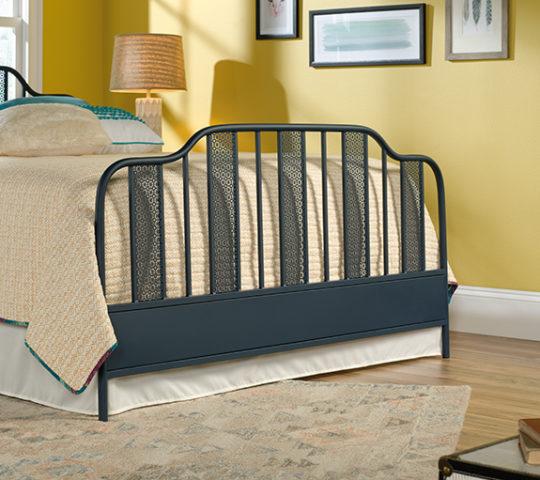 sauder 420102 viabella queen footboard navy blue the furniture co. Black Bedroom Furniture Sets. Home Design Ideas