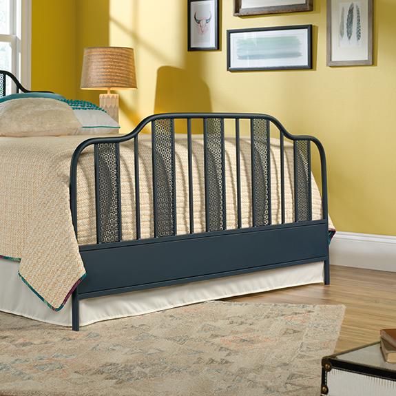 Sauder 420102 Viabella Queen Footboard Navy Blue The Furniture Co