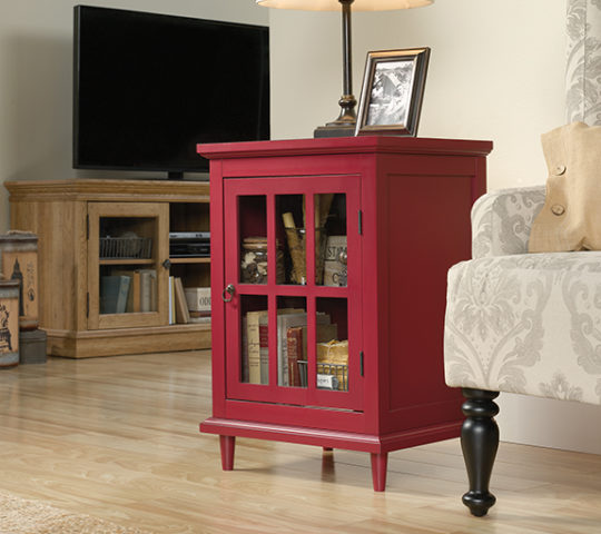 Sauder 420145 Barrister Lane Side Table Red The