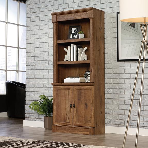Sauder 421976 Vine Crest Library W Doors The Furniture Co