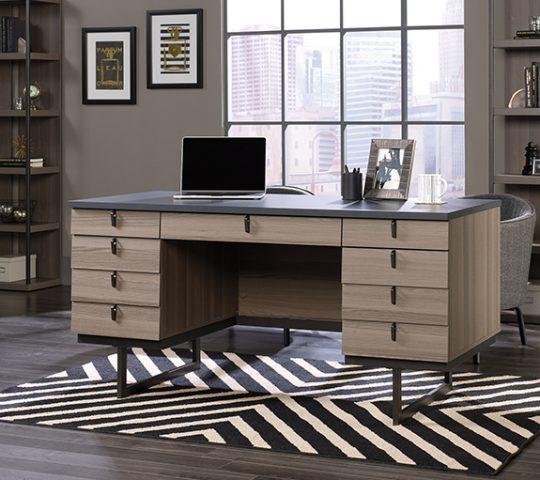 Sauder 420629 International Lux Executive Desk The