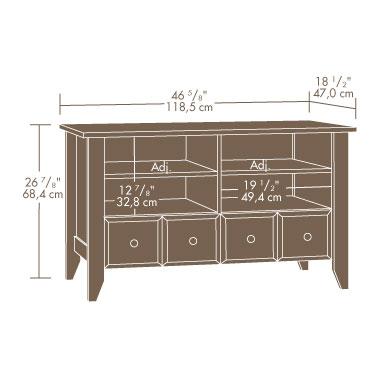 Sauder Shoal Creek Panel Tv Stand 409795 Sauder The Furniture Co
