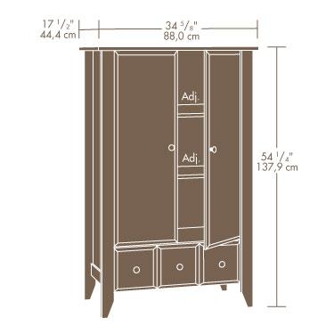 Sauder 411202 Shoal Creek Armoire The Furniture Co