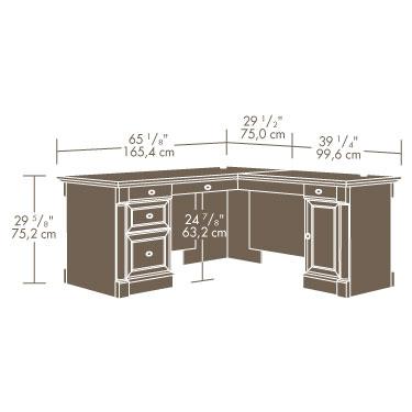 Sauder Palladia L Desk 420606 Sauder The Furniture Co