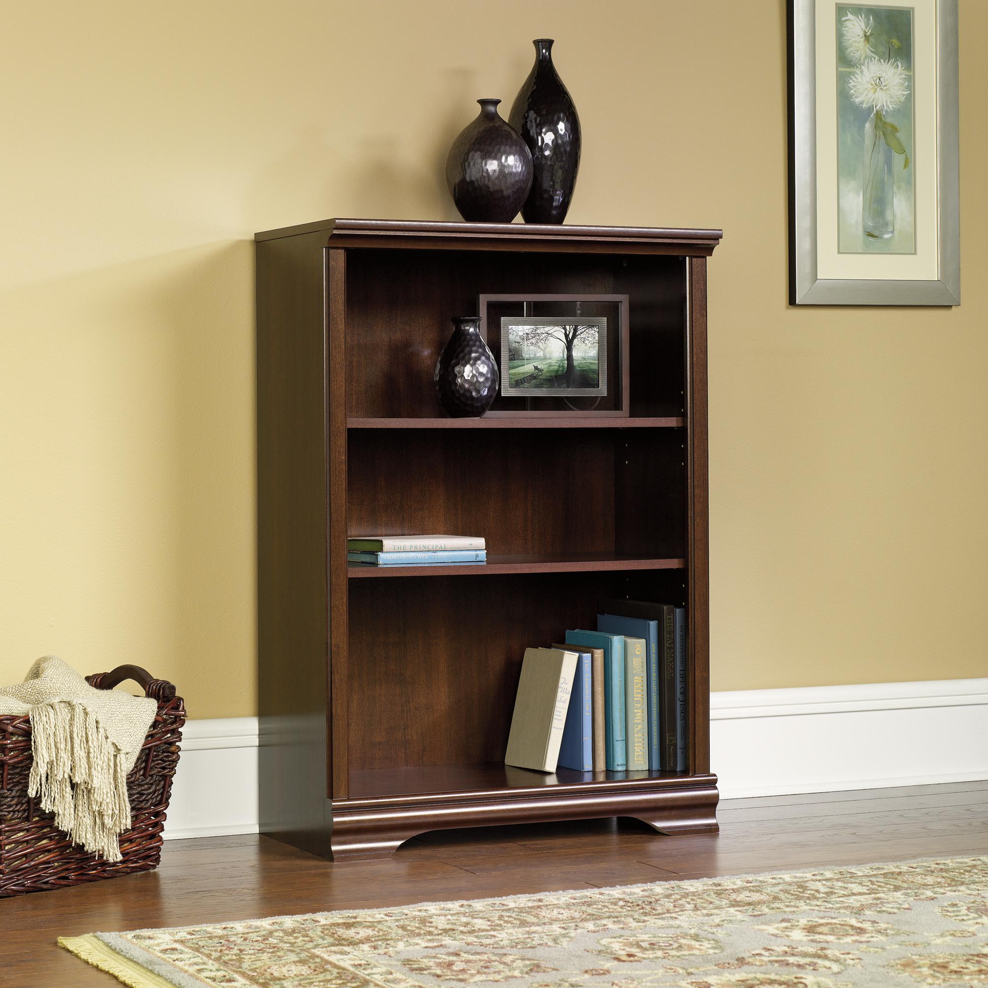 Sauder 3-Shelf Cherry Bookcase (411898) - The Furniture Co.