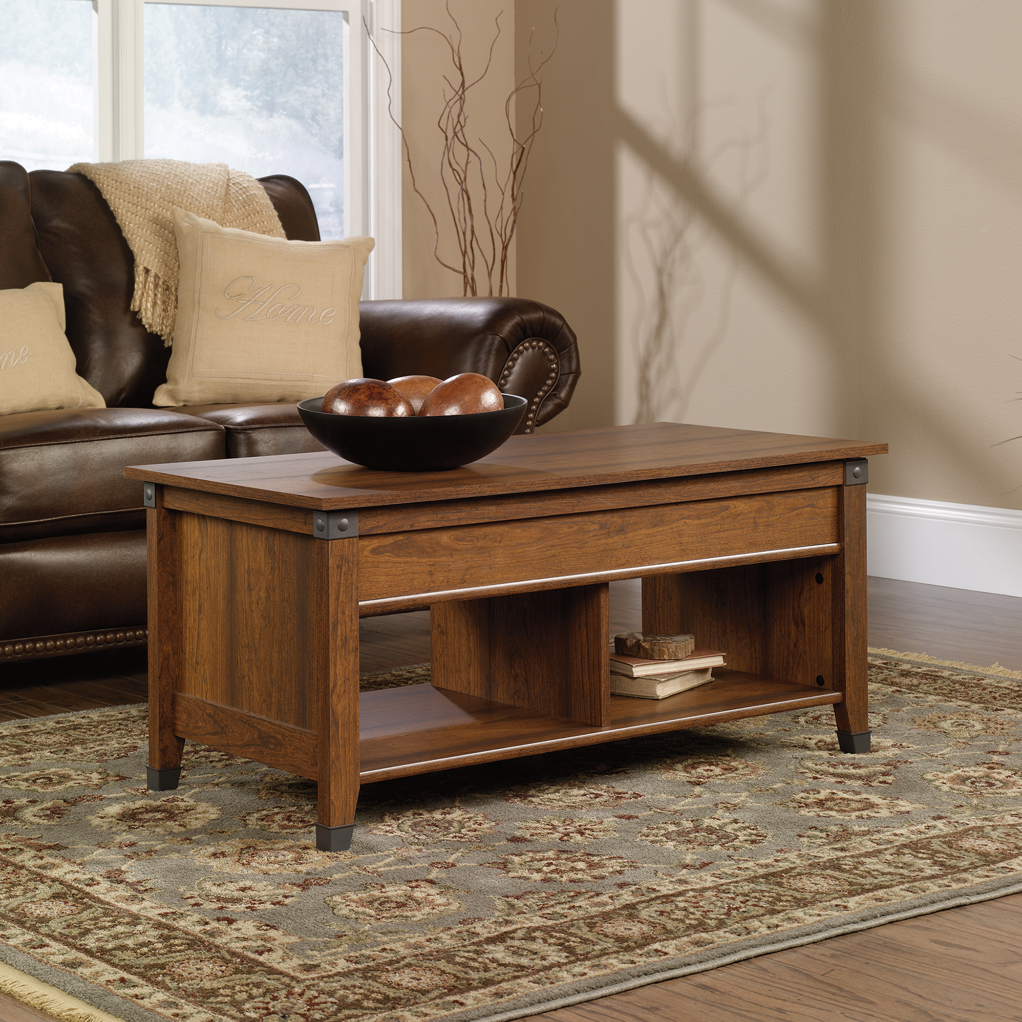 Sauder Carson Forge Coffee Table 414444 The Furniture Co