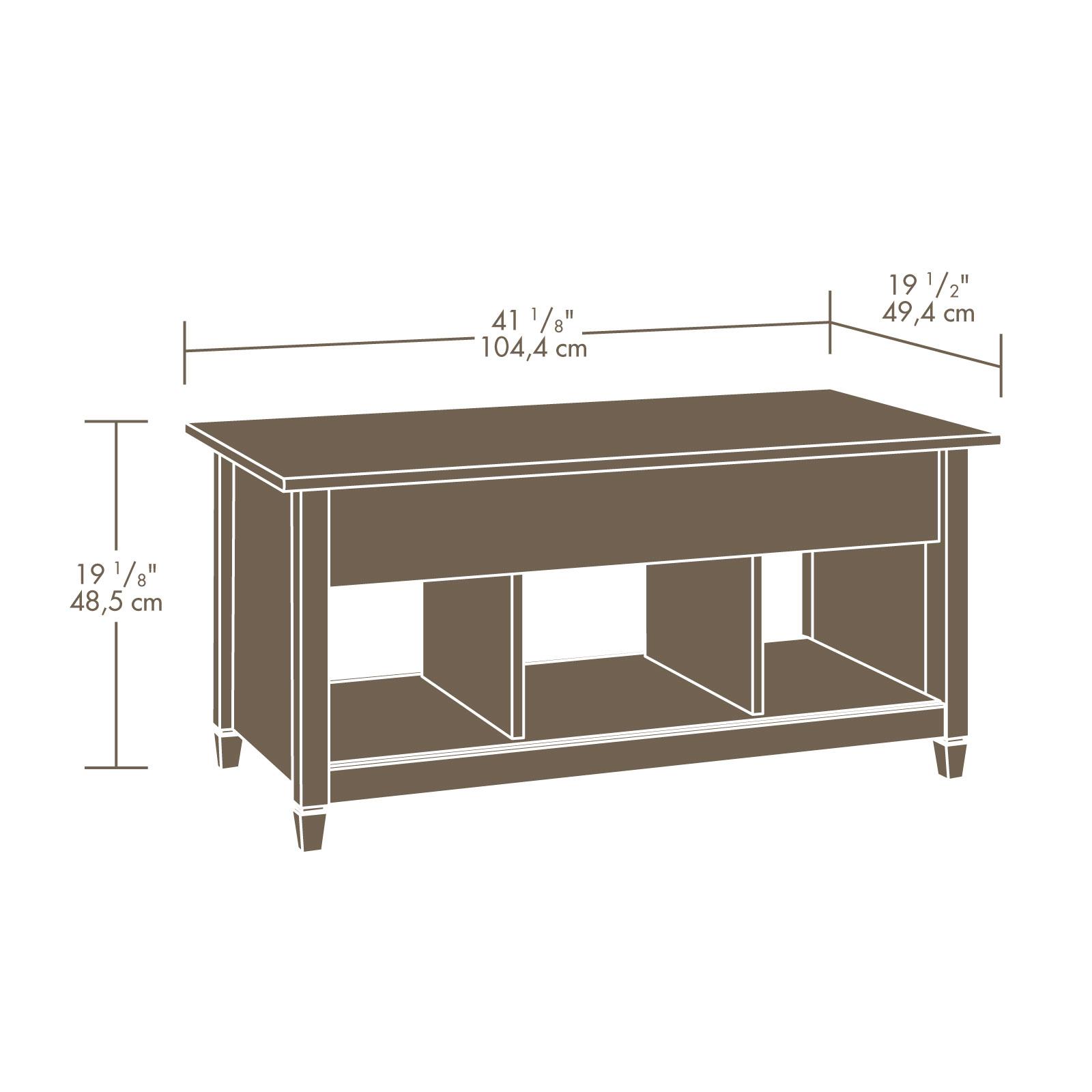 Sauder Edge Water Lift Top Coffee Table Estate Black Finish.Sauder Edge Water Lift Top Coffee Table 414856 Sauder The