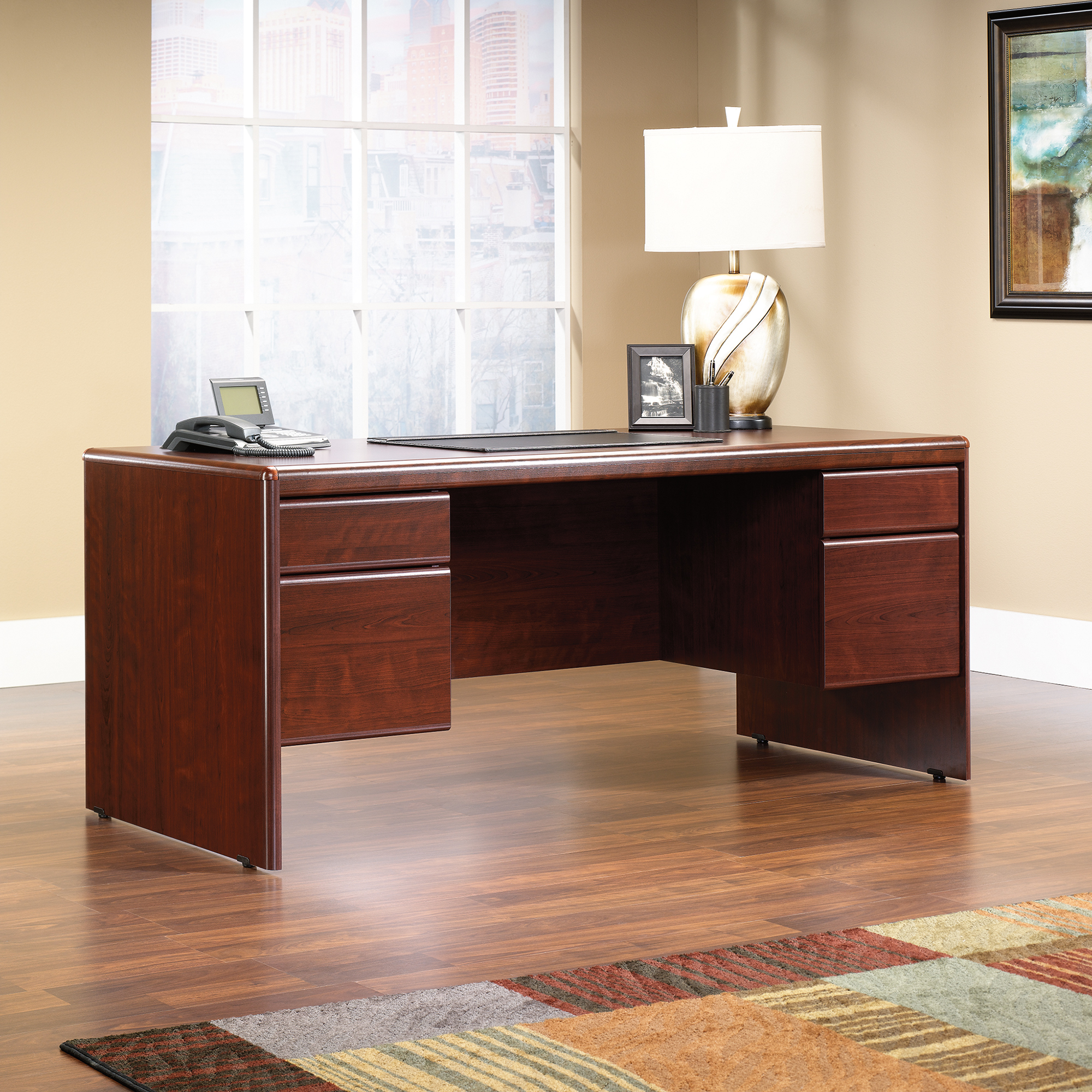 Sauder Cornerstone Executive Desk 404972 Sauder The Furniture Co