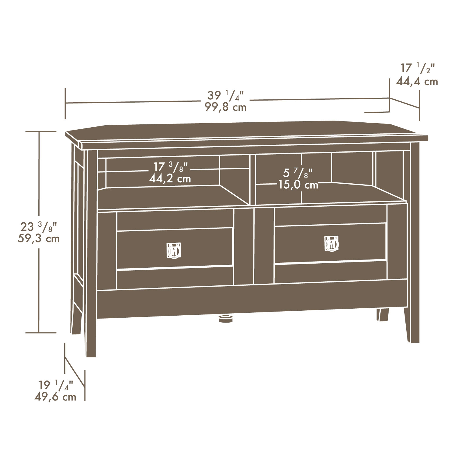 Sauder 410627 August Hill Corner Tv Stand Sauder The Furniture Co