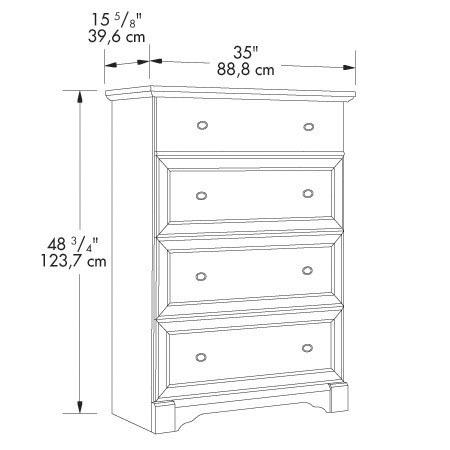 Sauder Palladia 4 Drawer Chest 411836 The Furniture Co