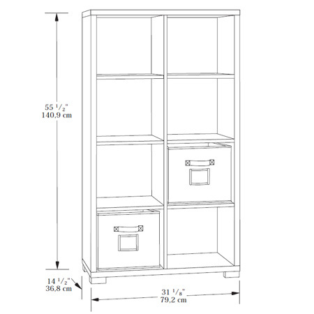 Sauder Transit Bookcase 414254 Sauder The Furniture Co
