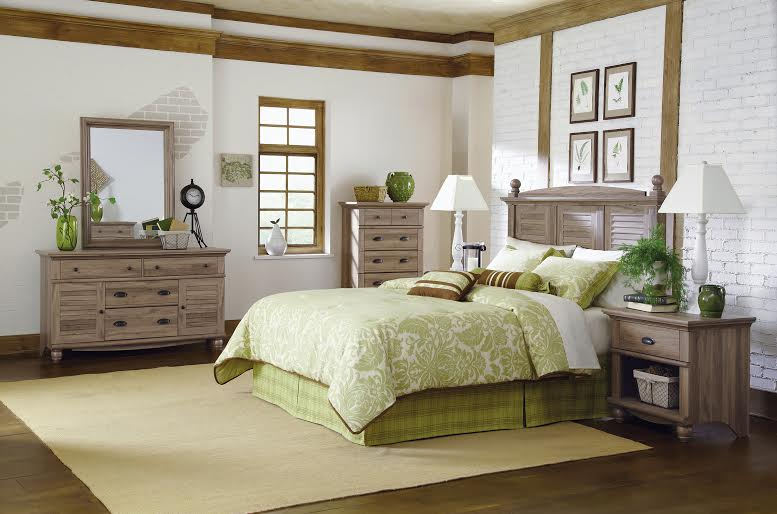 Oak bedroom furniture set queen headboard end table for Furniture oak harbor